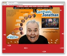 Certifiably Jonathan - movie Website Design