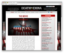 Death by China - movie Website design + Facebook & YouTube