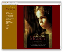 The Last Full Measure – movie Website design
