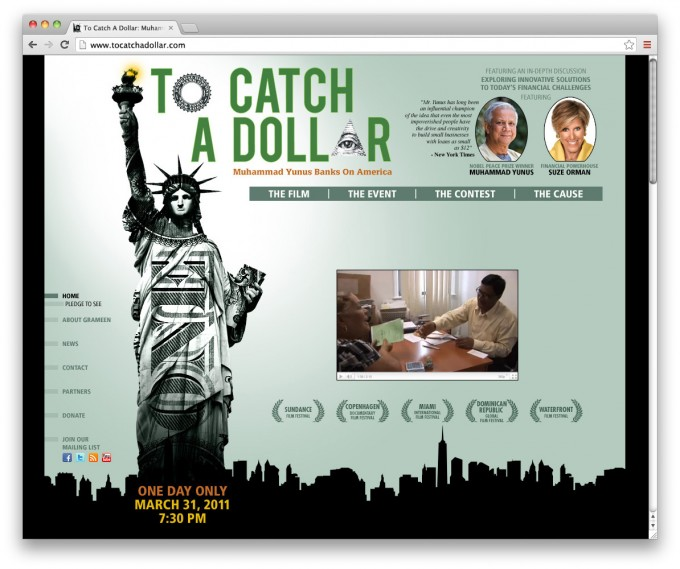 To Catch a Dollar - webdesign